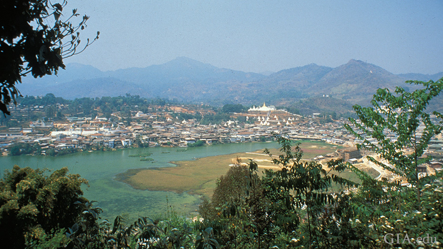 A panoramic view of Mogok evokes the mythical city of Shangri La. Photo: Robert E. Kane