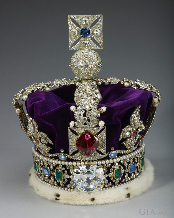The 170 ct red spinel in the Imperial State Crown is set with more than 3,000 diamonds, sapphires, emeralds and pearls, including the fabulous Cullinan II diamond. It can now be seen in the Tower of London.