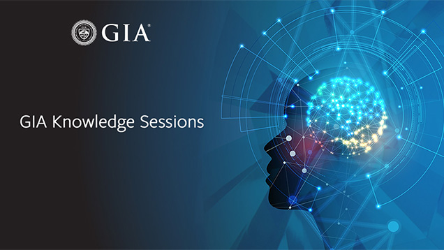 GIA Knowledge Sessions - head silhouette with futuristic light and patterns